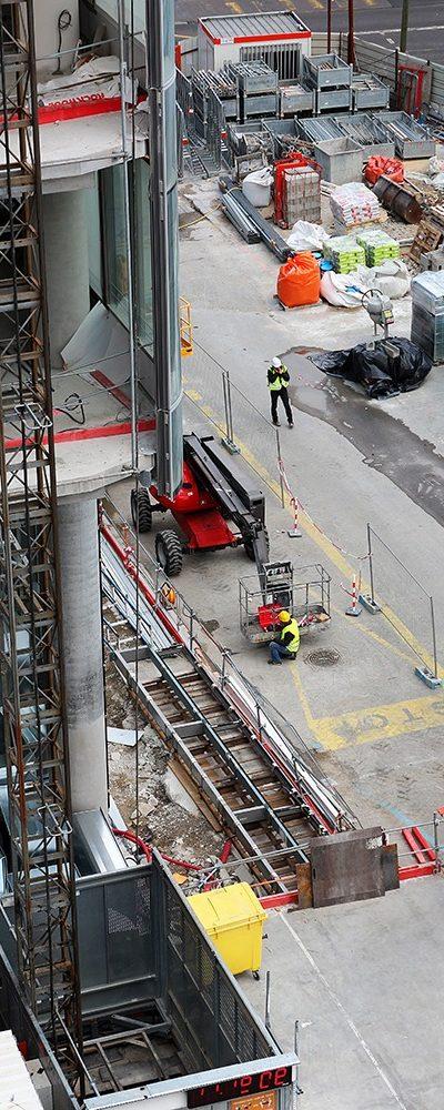 chantier de construction urbaine